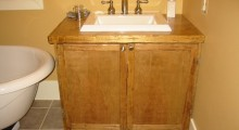 Distressed Birch Vanity