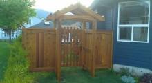 Cedar Arbor and Gate