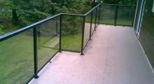 Black Aluminum and Glass Railing