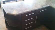 Custom Bevel Edge Countertop - Formica Jamocha Granite