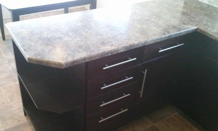 Countertop Beveled Edge : Custom Bevel Edge Countertop ? Formica Jamocha Granite