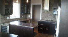 Custom Kitchen w/ Bevel Edge Countertops