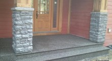 Exposed Aggregate entranceway and step