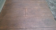 Wood Plank Decorative Concrete